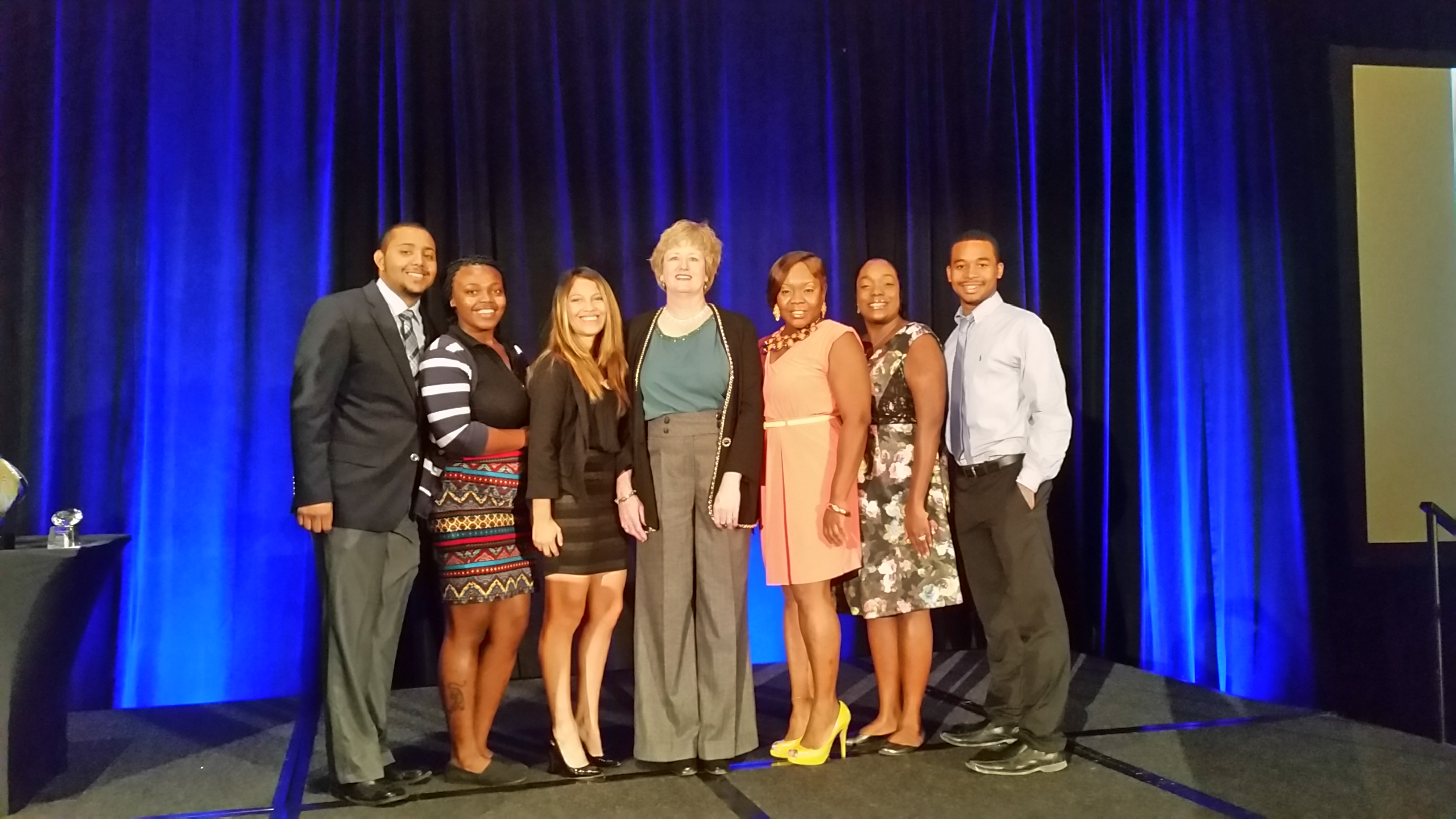 AFP members volunteered at the Greater Dallas chapter's 30th Anniversary National Philanthropy Day--a celebration honoring business, foundation, civic and charitable change-agents presented by KERA.  L to R:  Jabari La Chaux, Jazzy Williams, Alyssa Avila, Karen Martin, Shanay Wise, Jerrica Weeks-Thomas, Isaiah Stanton